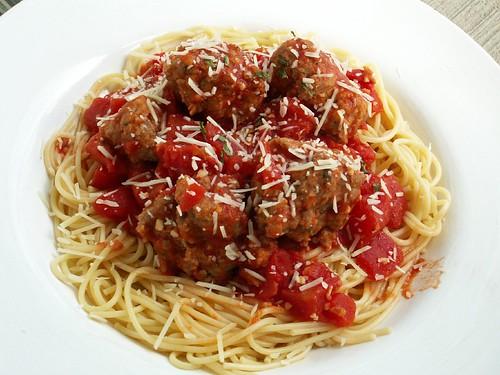 meatballs and spaghetti. Spaghetti and Meatballs