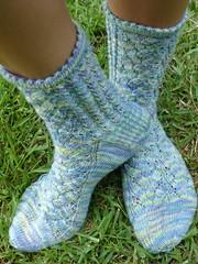 whisper lace socks
