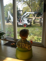 "Breakfast with a view of a ""digger"""