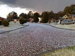 Hail Davy (dorofofoto) Tags: winter storm shozu hail warm australia nsw slippery 2007 campbelltown n95 sthelenspark