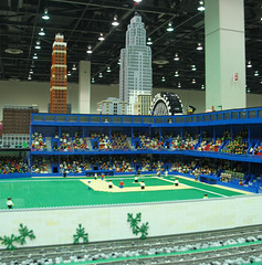 LEGO City with Detroit Buildings and Navin Field at NMRA National Train Show 2007 (DecoJim) Tags: architecture club skyscraper train buildings lego michigan detroit tigerstadium 2007 cobo penobscotbuilding davidstottbuilding michgan nmra griswoldbuilding legocity legometropolis briggsstadium uniroyaltire legoskyscraper legotrainclub nationaltrainshow navinfield nmrants2007 nationalmodelrailoadassociation coboconferencecenter nmra2007detroit 2007nmra legobaseball legodetroit legomodelbuildings legomichigan