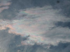 Irisdescent cloud (fdecomite) Tags: light cloud color iridescent atmospheric optics