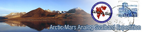 Arctic Mars Analog Svalbard Expedition Banner Graphic