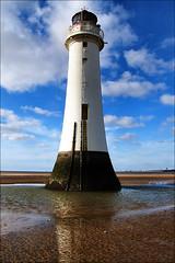 Lighting the Sky (The Wirral Bells) Tags: lighthouse fuji finepix fujifilm wirral newbrighton rivermersey perchrock s9600 s9100