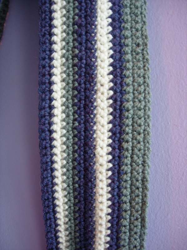 Prime Stripes Crochet Scarf - Detail