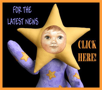 Visit Our Blog, Leah Original Star Baby Folk Art Doll by Elizabeth