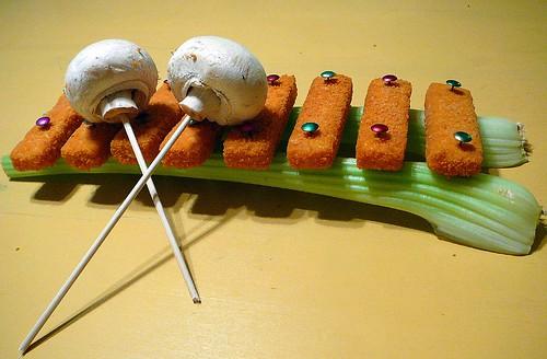 Fish finger xylophone