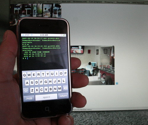 iPhone running SSH.