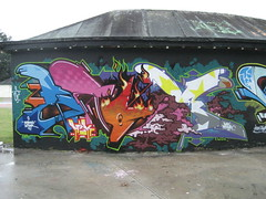Aroe MSK (Tatty Seaside Town) Tags: graffiti brighton graf msk ha notag aroe thelevel september2007 tattyseasidetown