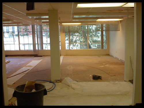 Construction in our new studio!