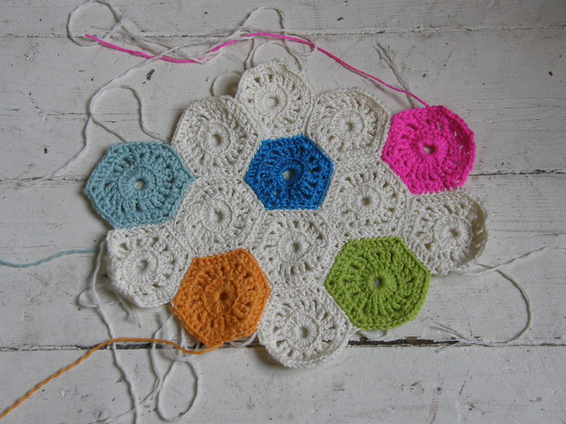 Crocheting Hexagons