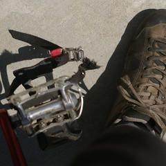 Broken toeclip strap