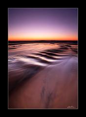 Journey to the Sea (Ben Cue) Tags: beach creek sunrise dawn golden stream ripple australia queensland noosa idyllic sunshinebeach colorimage 1740mml horizonoverwater canon5dmkii
