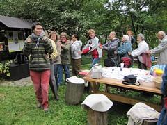 Happening nevidomých v Přírodní zahradě u smrku, 29. 9. 2010