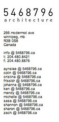 5468796 Architecture contact list