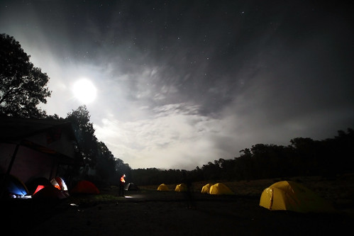 Kalimati Basecamp at midnight