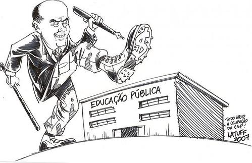 Serra e a Educação Pública, por Carlos Latuff