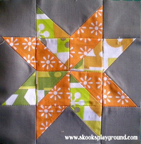 Sawtooth Pinwheel Star Block #1