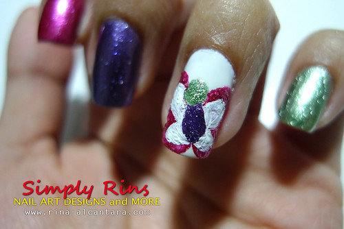Nail Art Caronia Butterfly 04