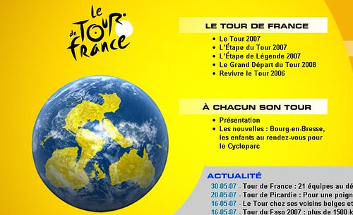 Tour de Francia en google Earth