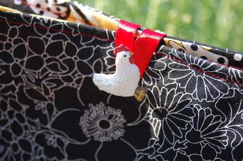 Chicken  Amy Butler purse for Coleen