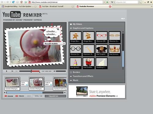 YouTube Remixer Videobearbeitung