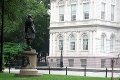 NYC - Civic Center - City Hall Park - Nathan Hale statue by wallyg, on Flickr