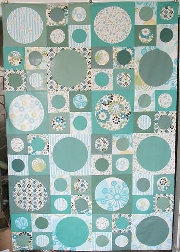 Spots quilt top