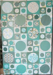 Spots quilt top (Feed Dog) Tags: quilt sewing craft wip spots quilting applique vernerpanton picasa2flickr:filename=spotstopjpg