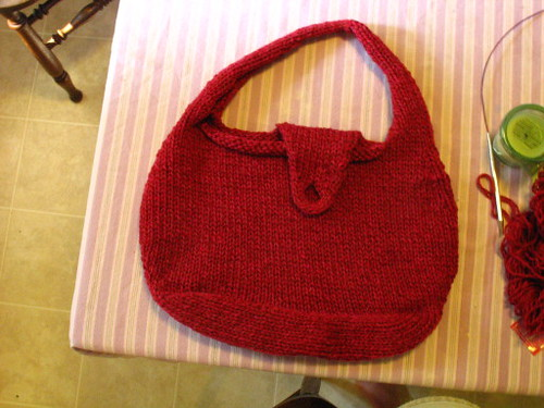 Amanda's sidekick bag (before felting)