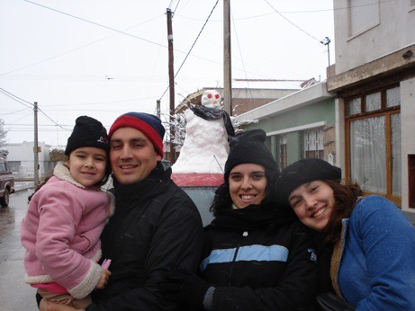 La familia de Hernando disfruto de la