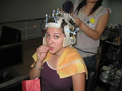 If you look closely the curlers are plugged into a machine! (Chip & Candi) Tags: new hair styles improved somewhat
