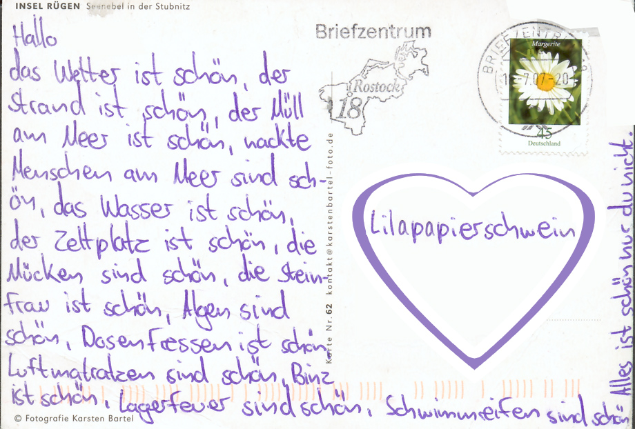 Postkarte an lps