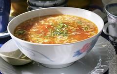 Tomato Soup (tanjatiziana) Tags: food toronto tomato soup chinatown review dimsum dumplings comfortfood blogto mothersdumplings huronst