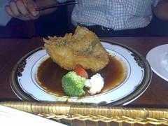 日替わりランチ 若鶏の洋風天プラ 赤ワイン風味のデミグラスソース
