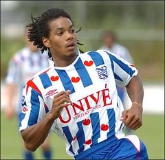 Calvin Jong-A-Pin, verdediger van SC Heerenveen en international van Jong Oranje en het Olympisch elftal