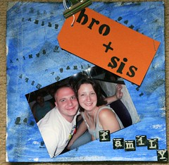 bro and sis scrapbook page