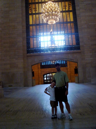 Mason and Cliff at Grand Central Station