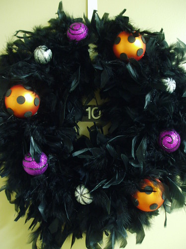 black wreath detail