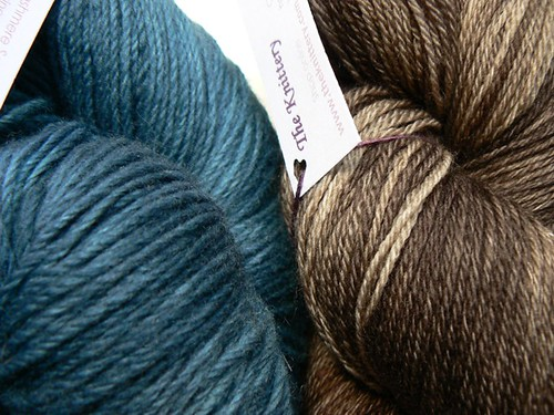 The Knittery indigo and chocolate