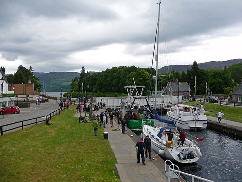 Locks on Caledonian Canal at Fort Augustus