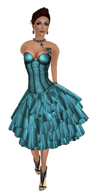 Teal Corset Dress - Vinyl Cafe Group Gift