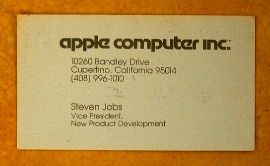 Steve Jobs Business Card From 1979 Network World