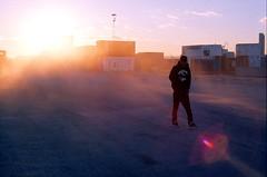 (Benjamin Skanke) Tags: sunset man film 50mm md minolta f14 slide 11 velvia flare dust canoscan xd 100f rokkor