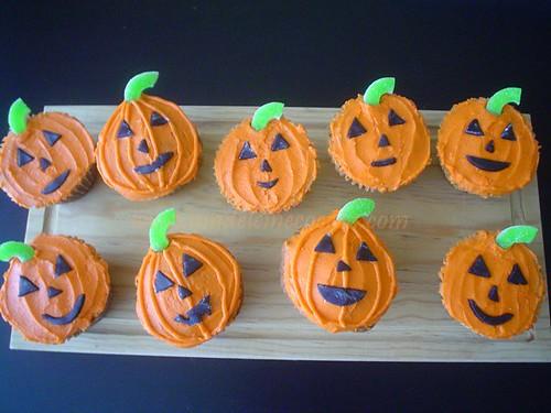 cupcakes de calabaza decorados