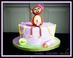 Custom cake in Yuma Arizona (Yuma Couture Cakes) Tags: monkeycake monkeyfigurine