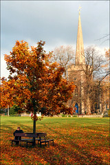 Autumnal Frenchay (Canis Major) Tags: tree autumnal stjohnthebaptistchurch frenchay briefsunshine frenchaycommon