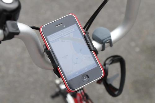 iPhoneの自転車用マウンター