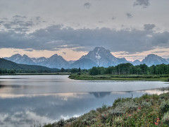 august on the oxbow (MatthewPHX) Tags: wyoming mountmoran tetons hdr grandtetonnationalpark photomatix oxbowbend supershot singlejpg anawesomeshot