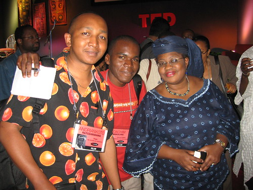 Ngozi-Okonjo, Joachim Mangalima and Andriankoto at TED Global Africa 2007